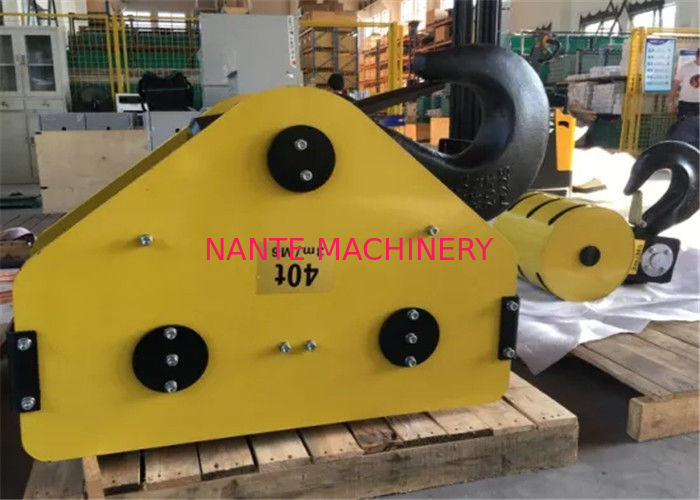 M6 40T Mini Electric Wire Rope Hoist Hook Block With Steel Colour Customized