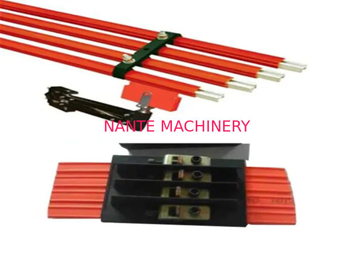 Heavy Current Insulated Safe Overhead Conductor Rail 4 Poles Inside Use