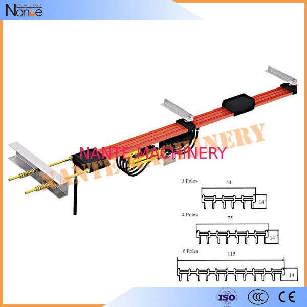 PVC Seamless Copper Conductor Rail System Overhead Monorail Systems