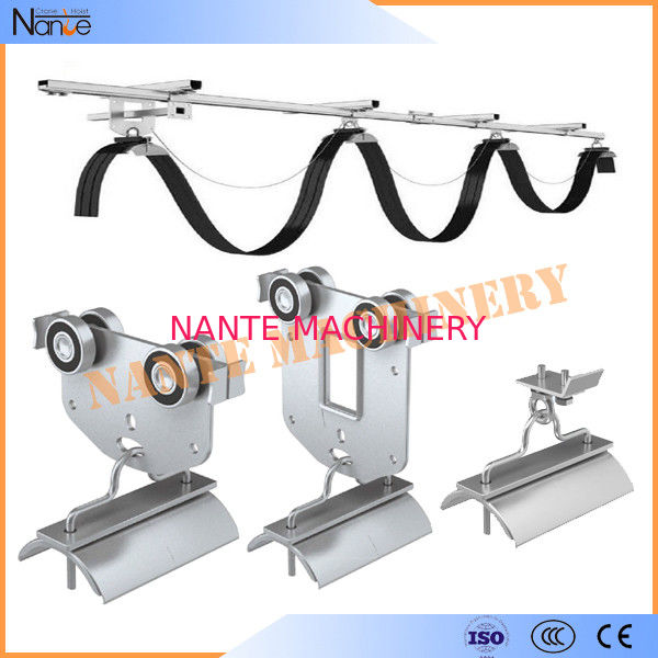 Galvanized Steel C Track Festoon System Overhead Trolley for Flat Cables