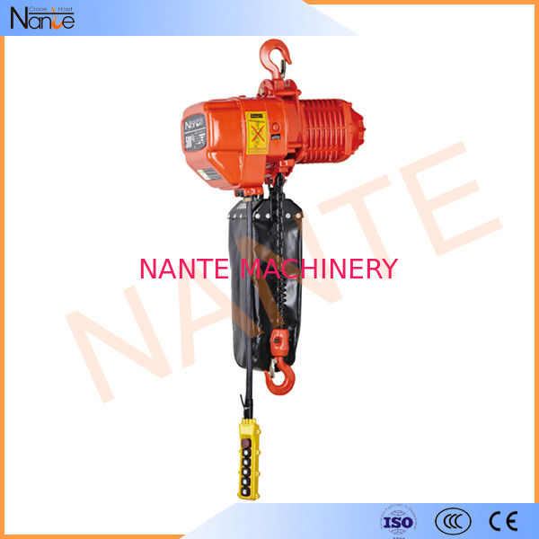 Low Headroom Electric Chain Hoist Long Chain Lifting With Double Speed