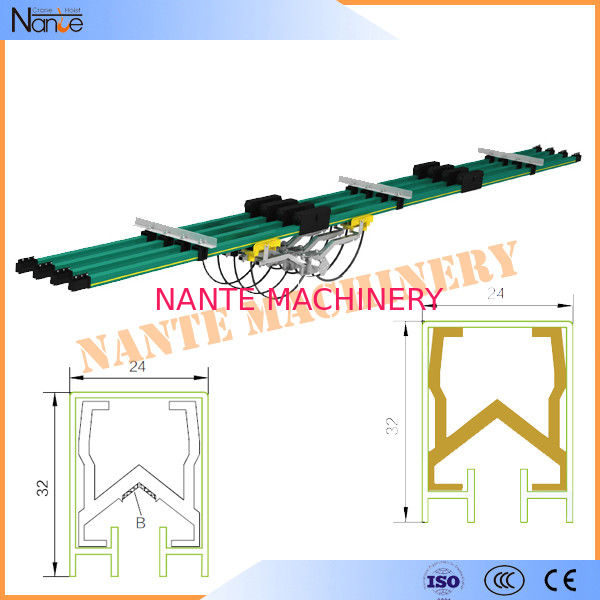 Aluminum / Copper insulated Conductor Bar Crane Bus Bar With CE Certificated JDC-H